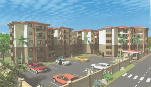 Architectural Drawing for Upcoming Juba, South Sudan, Apartments