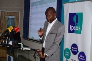 Mr. Rateng (of Ipsos Synovate) gives an overview on the poll conducted and indicates that there exists an innovative Kenyan originated Phone voting application.